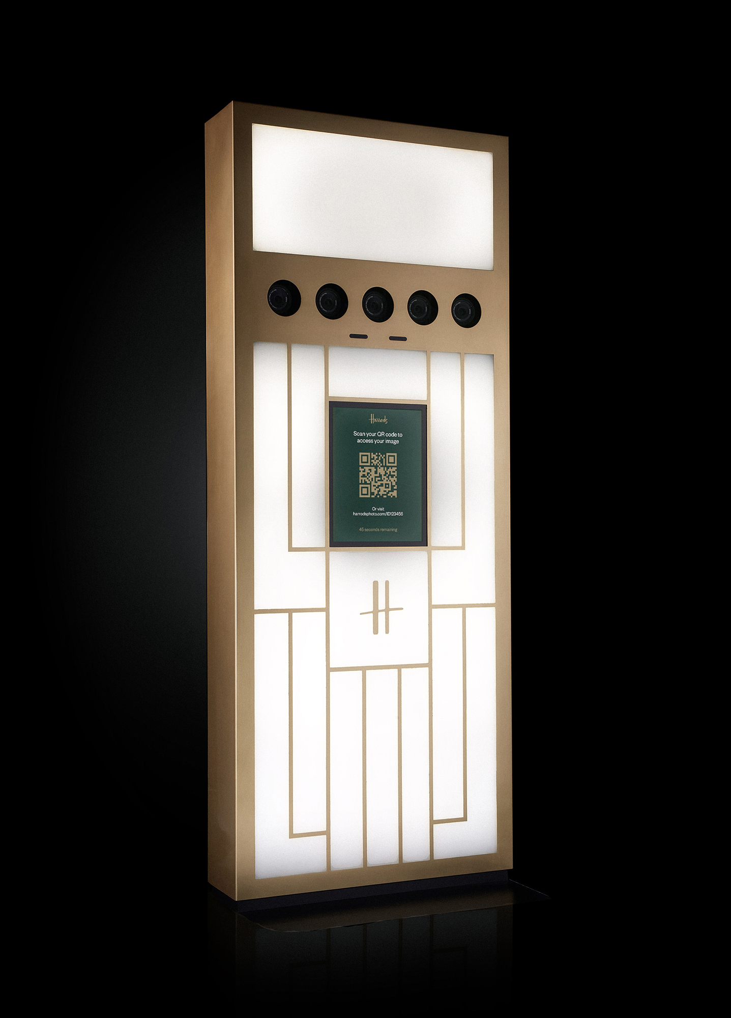Luxury Photo Booth for Harrods